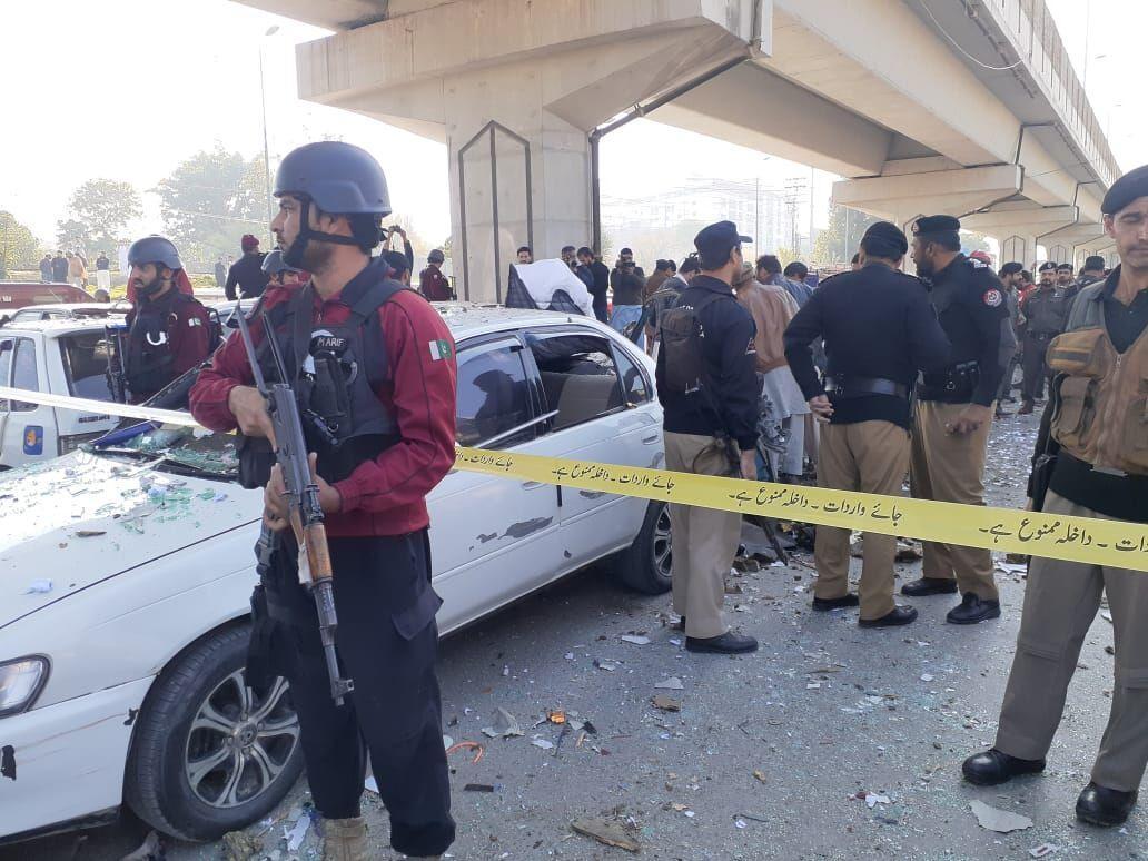 خبرنگاران انفجار در پیشاور پاکستان 5 زخمی برجا گذاشت