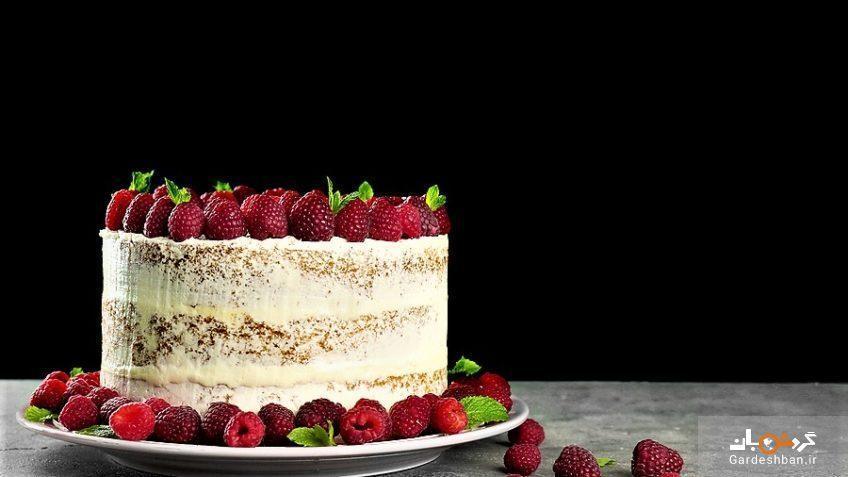 کیک تمشک خوشمزه و پرطرفدار